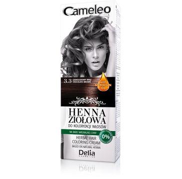 Delia Cosmetics Cameleo henna ziołowa nr 3.3 czekoladowy brąz 75 g