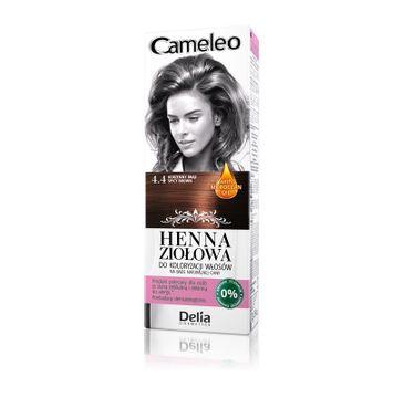 Delia Cosmetics Cameleo henna ziołowa nr 4.4 korzenny brąz (75 g)