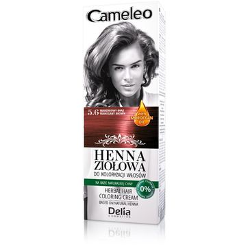 Delia Cosmetics Cameleo henna ziołowa nr 5.6 mahoniowy brąz (75 g)