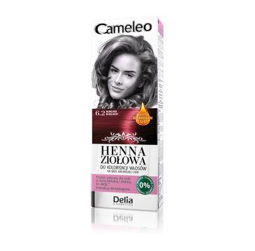 Delia Cosmetics Cameleo henna ziołowa nr 6.2 burgund (75 g)