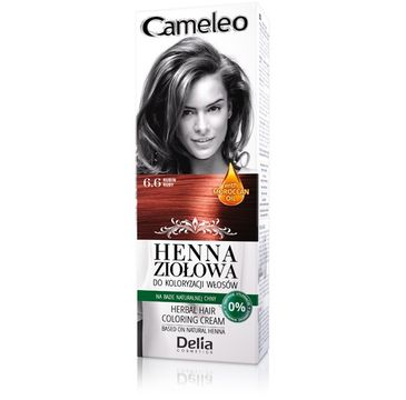 Delia Cosmetics Cameleo henna ziołowa nr 6.6 rubin 75 g