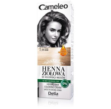 Delia Cosmetics Cameleo henna ziołowa nr 7.0 blond 75 g