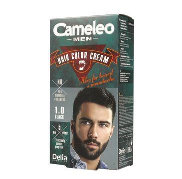 Delia Cosmetics Cameleo Men krem koloryzujący do brody, wąsów i włosów nr 1.0 Black (1 op.)