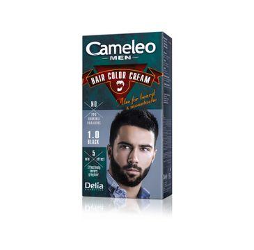 Delia Cosmetics Cameleo Men krem koloryzujący do włosów, brody i wąsów nr 1.0 czarny 1 op.