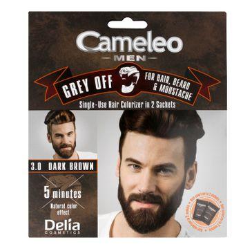 Delia Cosmetics Cameleo Men Krem koloryzujący do włosów,brody i wąsów nr 3.0 dark brown 15ml x 2