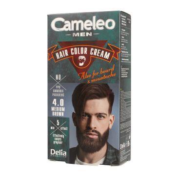 Delia Cosmetics Cameleo Men krem koloryzujący do włosów, brody i wąsów nr 4.0 medium brown 1 op.