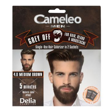 Delia Cosmetics Cameleo Men Krem koloryzujący do włosów,brody i wąsów nr 4.0 medium brown 15ml x 2