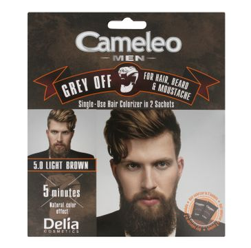 Delia Cosmetics Cameleo Men Krem koloryzujący do włosów,brody i wąsów nr 5.0 Light Brown 15ml x 2