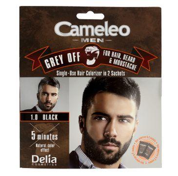 Delia Cosmetics Cameleo Men Krem koloryzujący do włosów,brody i wąsów nr 1.0 black 15 ml x 2