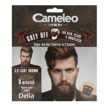 Delia Cosmetics Cameleo Men Krem koloryzujący do włosów,brody i wąsów nr 5.0 Light Brown 15ml x 2