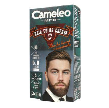 Delia Cosmetics Cameleo Men krem koloryzujący do włosów,brody i wąsów nr 5.0 Light Brown 1 op.