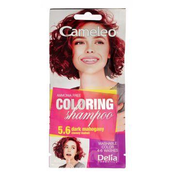 Delia Cosmetics Cameleo Szampon koloryzujący 5.6 Ciemny Mahoń (40 ml)