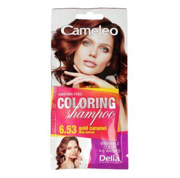 Delia Cosmetics Cameleo Szampon koloryzujący 6.53 Złoty Karmel (40 ml)