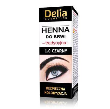 Delia Cosmetics Henna do brwi tradycyjna 1.0 Czarna 1 szt