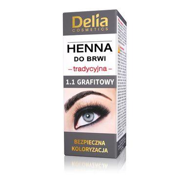Delia Cosmetics Henna do brwi tradycyjna 1.1 Grafitowa 1 szt