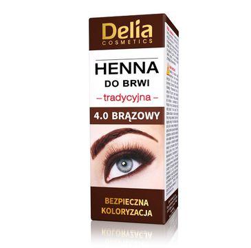 Delia Cosmetics Henna do brwi tradycyjna 4.0 Brązowa (1 szt.)