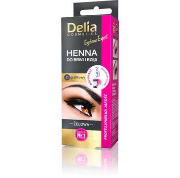 Delia Cosmetics Henna do brwi żelowa 1.1 grafit (2 ml)