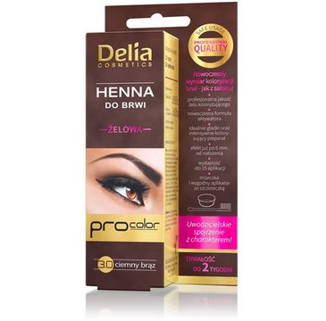 Delia Cosmetics Henna do brwi żelowa 3.0 ciemno brązowa (2 ml)