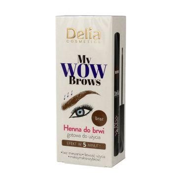 Delia Cosmetics My Wow Brows Henna do brwi - brązowa 6ml