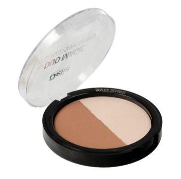 Delia Cosmetics puder rozświetlająco - brązujący do twarzy Duo Magic Shape Defined nr 101 Light Glam 9 g