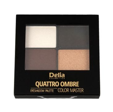 Delia Cosmetics Quattro Ombre Cienie do powiek Color Master nr 404 Golden Praline 1 szt.
