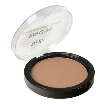 Delia Cosmetics Shape Defined Sun Glow Puder prasowany brązujący nr 402 Brunette  9g