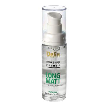 Delia Cosmetics Skin Care Defined baza pod makijaż Long Matt matująca 30 ml