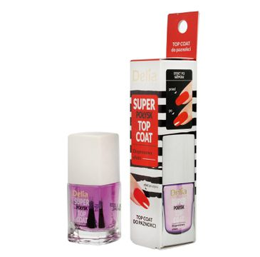 Delia – Cosmetics Top Coat do paznokci Super Połysk (11 ml)