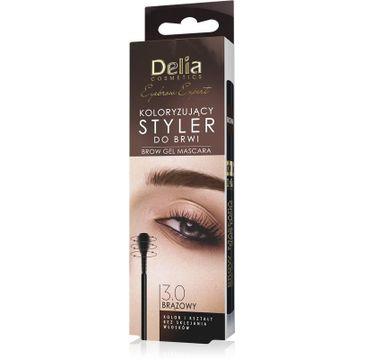 Delia Cosmetics Eyebrow Expert Koloryzujący Styler do brwi 3.0 brąz (11 ml)