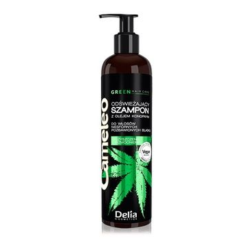 Delia – Odświeżający szampon z olejem konopnym do włosów niesfornych Cameleo Green  GREEN (250 ml)