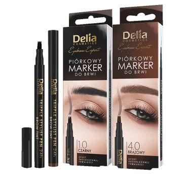 Delia Piórkowy marker do brwi Tripple Stylist Pen 24h 1.0 czarny (1 szt.)