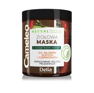 Delia 鈥� Cameleo Herbal maska zio艂owa Maska czerwona do w艂os贸w rudych/czerwonych (250 ml)