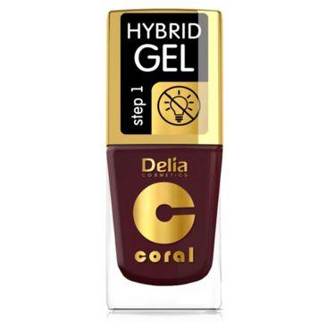 Delia – Lakier hybrydowy Coral nr 60 ciemny bakłażan (11 ml)