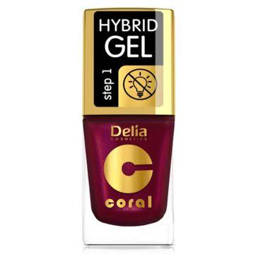 Delia – Lakier hybrydowy Coral nr 61 perłowa malina (11 ml)