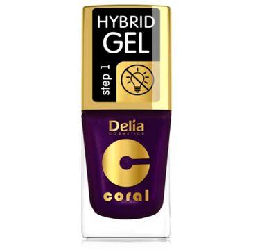 Delia – Lakier hybrydowy Coral nr 62 perłowy bakłażan (11 ml)