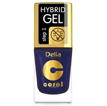 Delia – Lakier hybrydowy Coral nr 63 perłowy fiolet (11 ml)