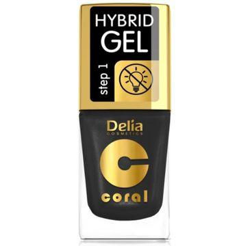 Delia – Lakier hybrydowy Coral nr 64 złota czerń (11 ml)