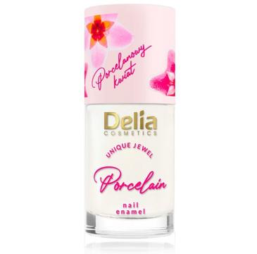Delia Lakier i odżywka do paznokci z kwiatem porcelany 2w1 nr 01 Biały (11 ml)