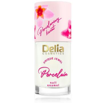 Delia Lakier i odżywka do paznokci z kwiatem porcelany 2w1 nr 02 Kremowy (11 ml)