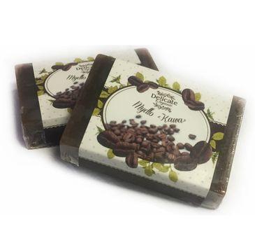 Delicate Organic Naturalne mydło w kostce Kawa 80g