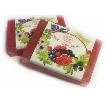 Delicate Organic Naturalne mydło w kostce Leśna Jagoda 80g