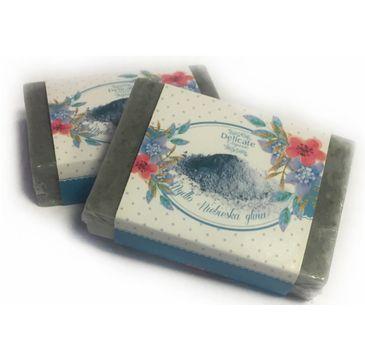 Delicate Organic Naturalne mydło w kostce Niebieska Glinka 80g