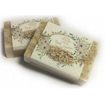 Delicate Organic Naturalne mydło w kostce Owsiane 80g