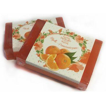Delicate Organic Naturalne mydło w kostce Pomarańczowe 80g