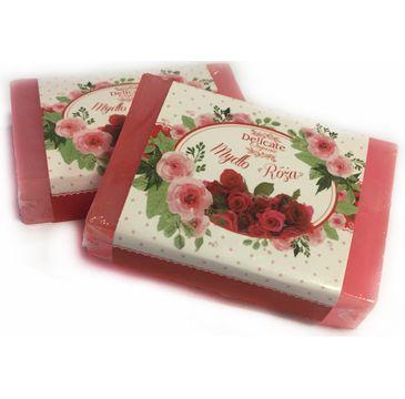 Delicate Organic Naturalne mydło w kostce Róża 80g