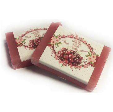Delicate Organic Naturalne mydło w kostce Słodka Wiśnia 80g
