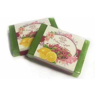 Delicate Organic Naturalne mydło w kostce Werbena & Cytryna 80g