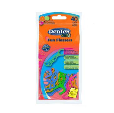DenTek Kids Fun Flossers wykałaczki do zębów z nitką dla dzieci (40 szt.)
