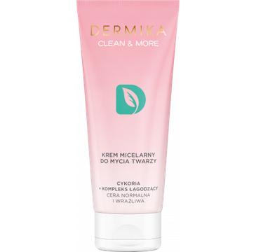 Dermika Clean&More – Krem micelarny do mycia twarzy cykoria + kompleks łagodzący cera normalna i wrażliwa (150 ml)
