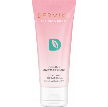 Dermika Clean&More – Peeling enzymatyczny cykoria + keratolina cera wrażliwa (75 ml)